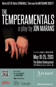 The Temperamentals by Jon Marans (poster)